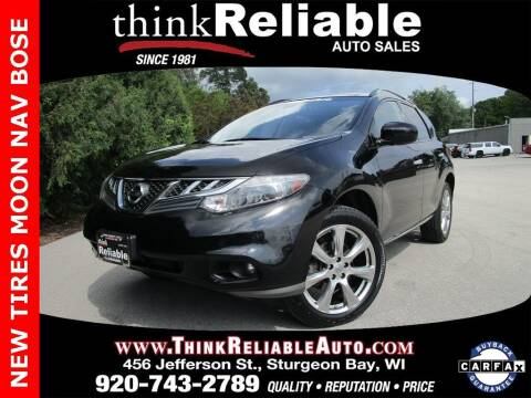 2014 Nissan Murano for sale at RELIABLE AUTOMOBILE SALES, INC in Sturgeon Bay WI