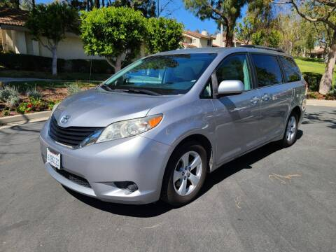 2012 Toyota Sienna for sale at E MOTORCARS in Fullerton CA
