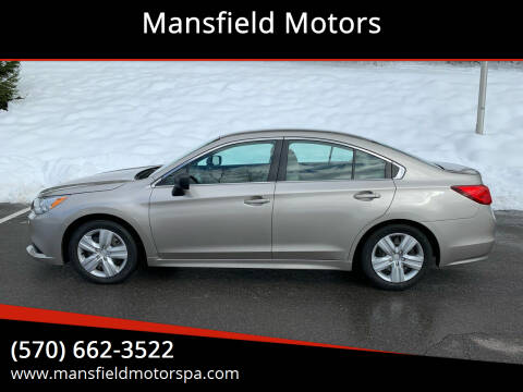 2017 Subaru Legacy for sale at Mansfield Motors in Mansfield PA