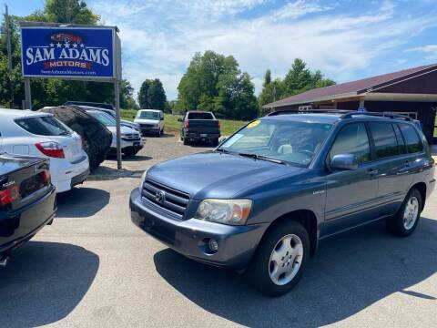 2005 Toyota Highlander for sale at Sam Adams Motors in Cedar Springs MI