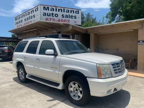 2004 Cadillac Escalade for sale at Mainland Auto Sales Inc in Daytona Beach FL