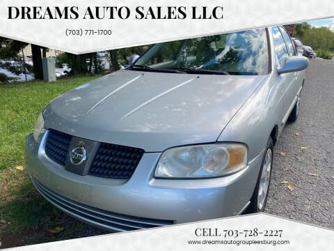 2004 Nissan Sentra for sale at Dreams Auto Sales LLC in Leesburg VA
