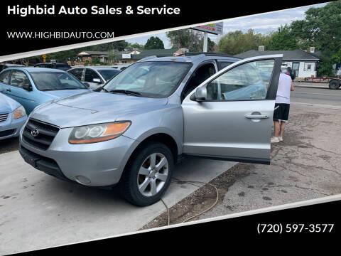 2009 Hyundai Santa Fe for sale at Highbid Auto Sales & Service in Lakewood CO
