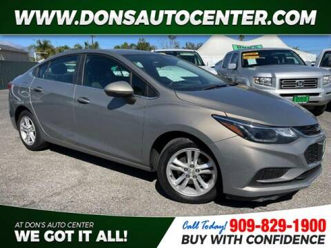 2018 Chevrolet Cruze for sale at Dons Auto Center in Fontana CA