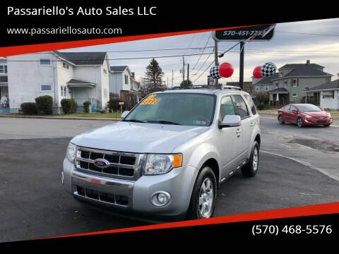 2011 Ford Escape for sale at Passariello's Auto Sales LLC in Old Forge PA