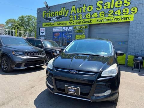 2013 Ford Escape for sale at Friendly Auto Sales in Detroit MI