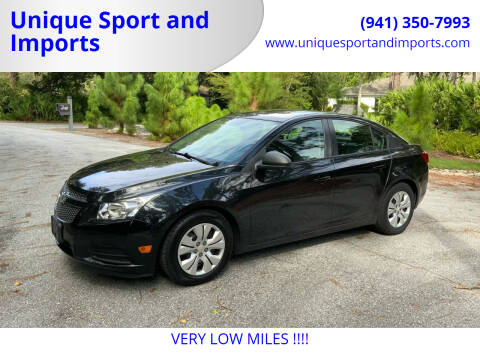 2013 Chevrolet Cruze for sale at Unique Sport and Imports in Sarasota FL