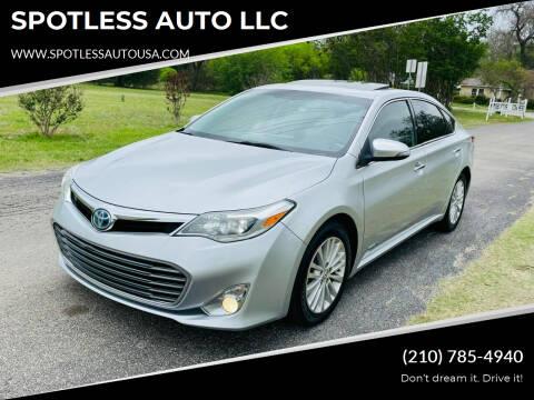 2013 Toyota Avalon Hybrid for sale at SPOTLESS AUTO LLC in San Antonio TX