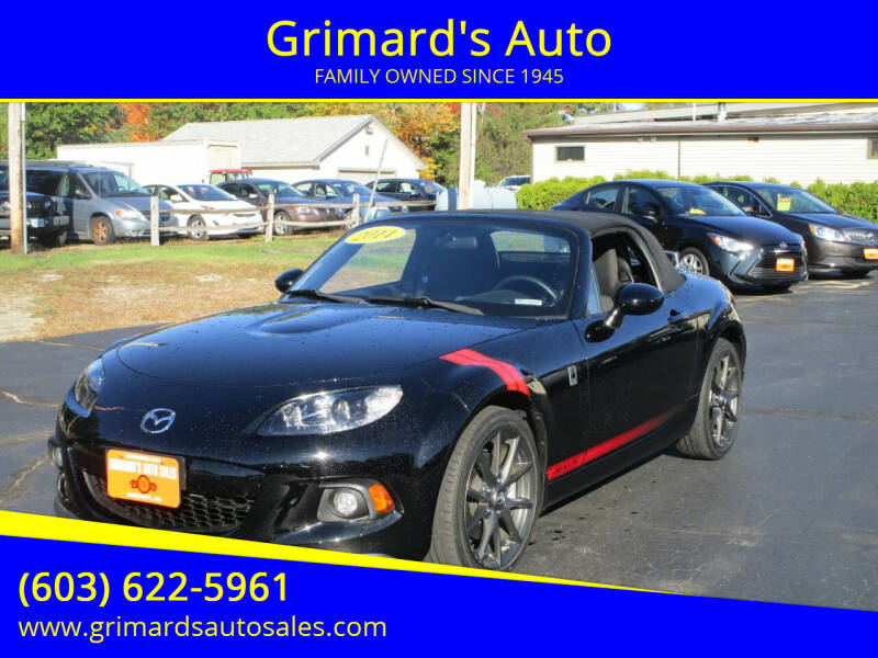 2014 Mazda MX-5 Miata for sale at Grimard's Auto in Hooksett, NH