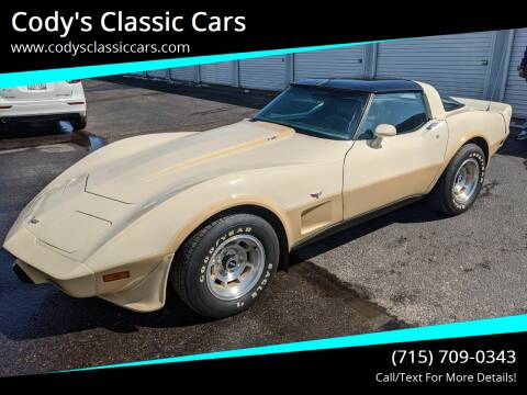 1979 Chevrolet Corvette for sale at Cody's Classic Cars in Stanley WI