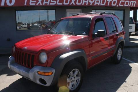 2004 Jeep Liberty for sale at Texas Luxury Auto in Cedar Hill TX