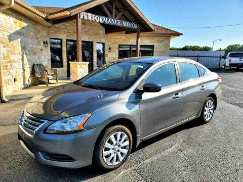 2015 Nissan Sentra for sale at Performance Motors Killeen Second Chance in Killeen TX