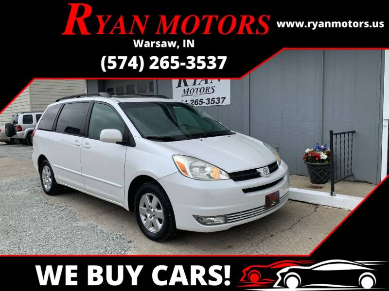 2004 Toyota Sienna for sale at Ryan Motors LLC in Warsaw IN