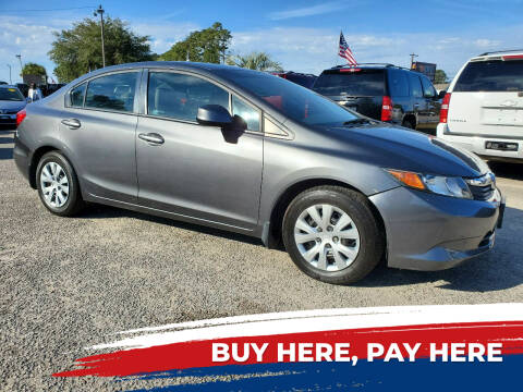 2012 Honda Civic for sale at Rodgers Enterprises in North Charleston SC