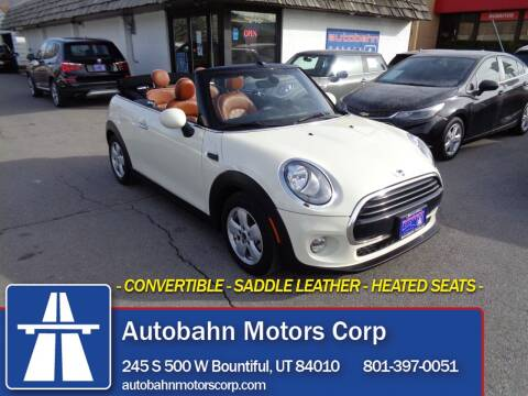 2018 MINI Convertible for sale at Autobahn Motors Corp in Bountiful UT