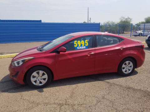 2016 Hyundai Elantra for sale at CAMEL MOTORS in Tucson AZ