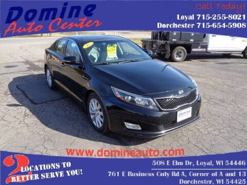 2015 Kia Optima for sale at Domine Auto Center in Loyal WI