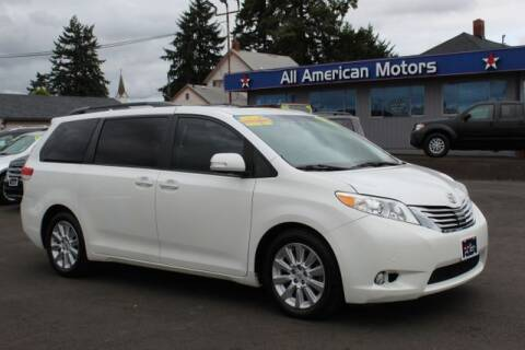 2014 Toyota Sienna for sale at All American Motors in Tacoma WA