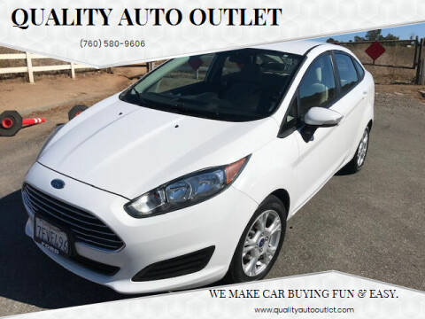 2014 Ford Fiesta for sale at Quality Auto Outlet in Vista CA