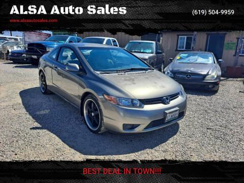2007 Honda Civic for sale at ALSA Auto Sales in El Cajon CA