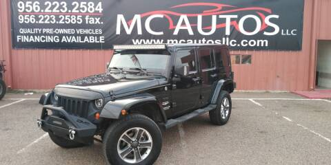 2011 Jeep Wrangler Unlimited for sale at MC Autos LLC in Pharr TX