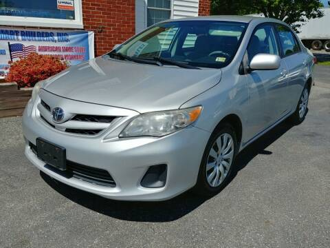2012 Toyota Corolla for sale at Regional Auto Sales in Madison Heights VA