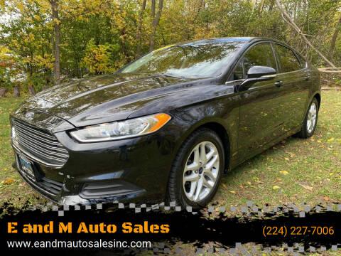 2014 Ford Fusion for sale at E and M Auto Sales in Elgin IL
