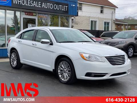 2012 Chrysler 200 for sale at MWS Wholesale  Auto Outlet in Grand Rapids MI