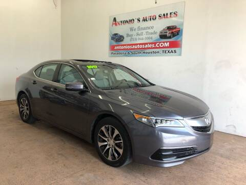 2017 Acura TLX for sale at Antonio's Auto Sales in South Houston TX