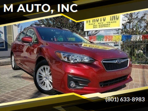 2017 Subaru Impreza for sale at M AUTO, INC in Millcreek UT