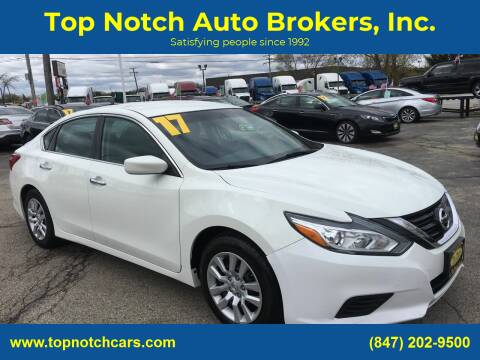 2017 Nissan Altima for sale at Top Notch Auto Brokers, Inc. in Palatine IL