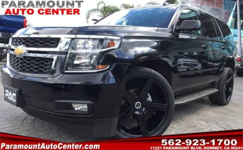 2017 Chevrolet Tahoe for sale at PARAMOUNT AUTO CENTER in Downey CA