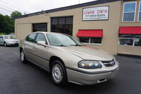 2002 Chevrolet Impala for sale at I-Deal Cars LLC in York PA