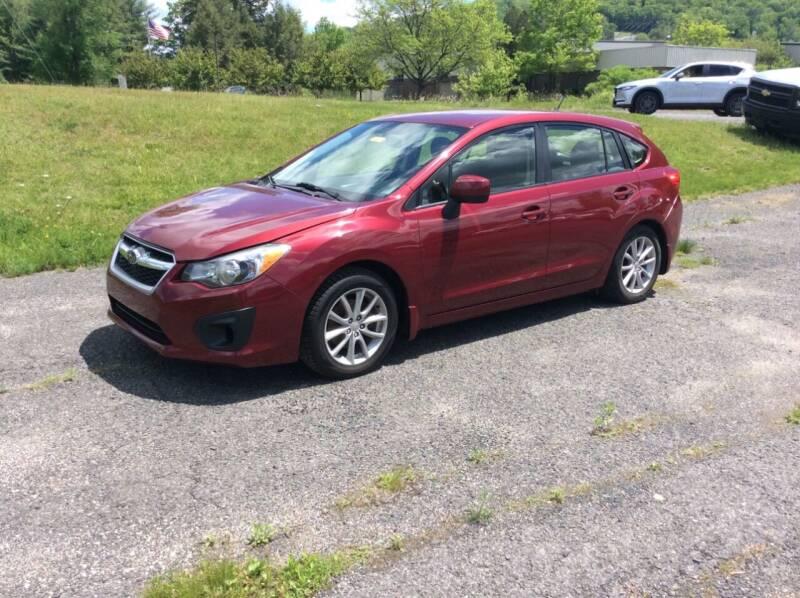 2014 Subaru Impreza for sale at Route 102 Auto Sales  and Service in Lee MA