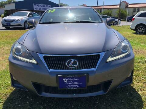 2012 Lexus IS 250 for sale at East Carolina Auto Exchange in Greenville NC
