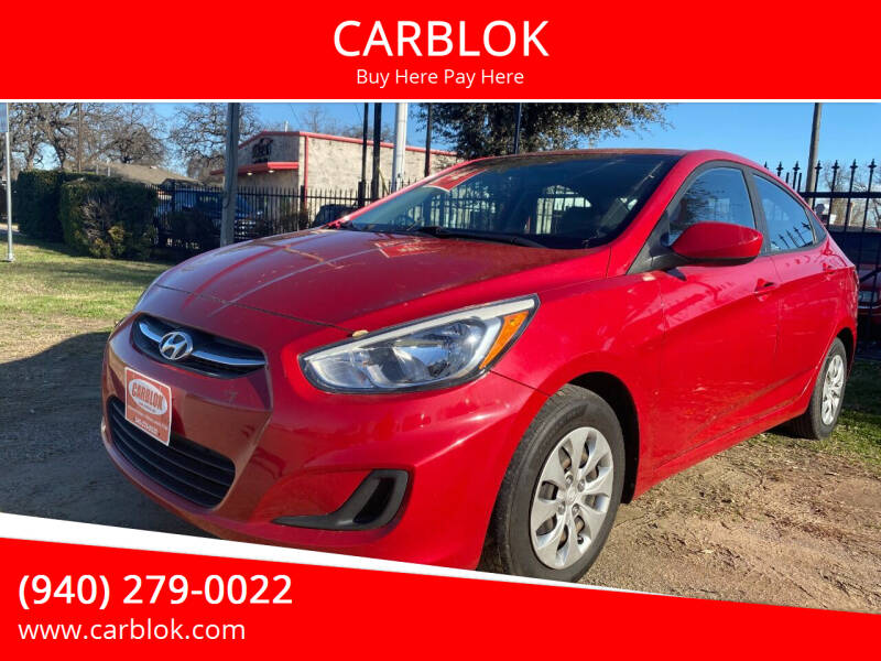 2016 Hyundai Accent for sale at CARBLOK in Lewisville TX