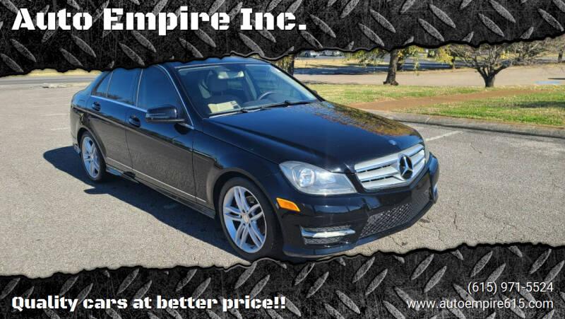 2013 Mercedes-Benz C-Class for sale at Auto Empire Inc. in Murfreesboro TN
