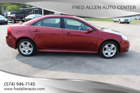 2009 Pontiac G6 for sale at Fred Allen Auto Center in Winamac IN