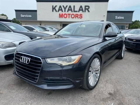 2013 Audi A6 for sale at KAYALAR MOTORS in Houston TX