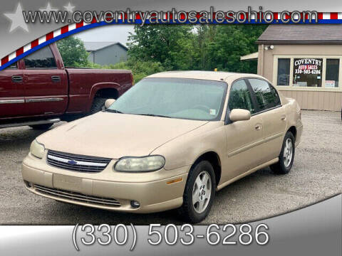 2002 Chevrolet Malibu for sale at Coventry Auto Sales in Youngstown OH