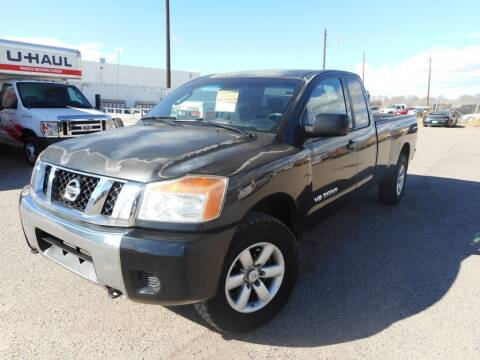 2008 Nissan Titan for sale at AUGE'S SALES AND SERVICE in Belen NM