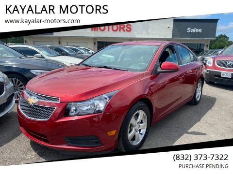 2013 Chevrolet Cruze for sale at KAYALAR MOTORS in Houston TX