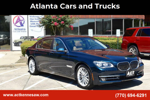 2014 BMW 7 Series for sale at Atlanta Cars and Trucks in Kennesaw GA
