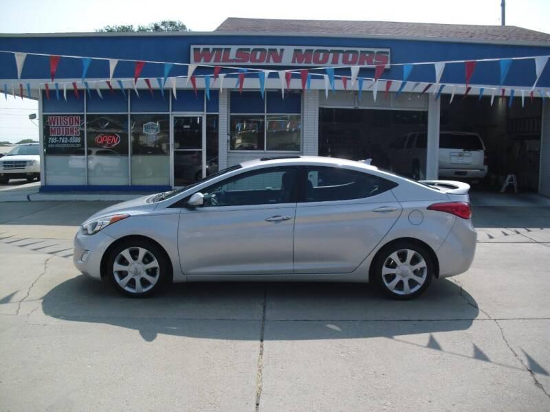 2013 Hyundai Elantra for sale at Wilson Motors in Junction City KS