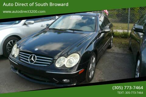 2005 Mercedes-Benz CLK for sale at Auto Direct of South Broward in Miramar FL