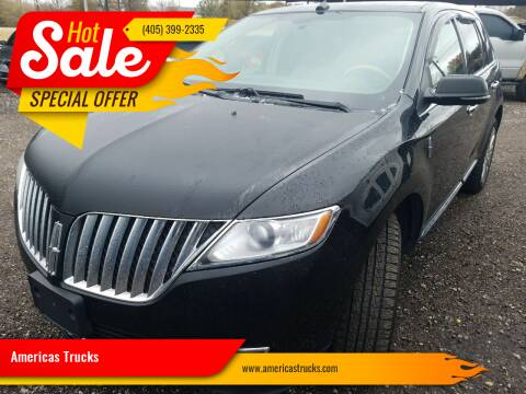 2015 Lincoln MKX for sale at Americas Trucks in Jones OK