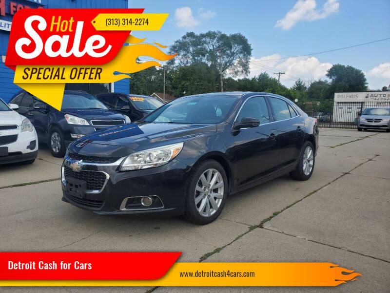 2015 Chevrolet Malibu for sale at Detroit Cash for Cars in Warren MI