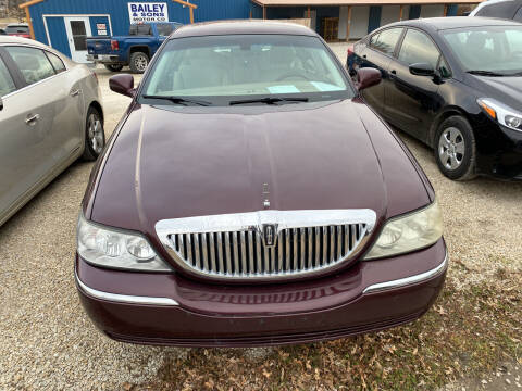 2008 Lincoln Town Car for sale at Bailey & Sons Motor Co in Lyndon KS