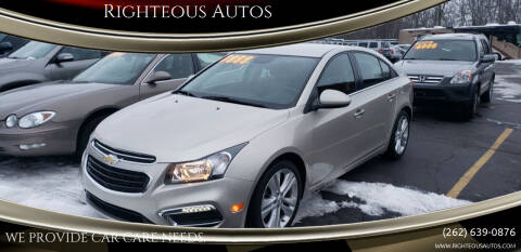 2016 Chevrolet Cruze Limited for sale at Righteous Autos in Racine WI
