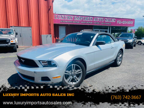 2011 Ford Mustang for sale at LUXURY IMPORTS AUTO SALES INC in North Branch MN